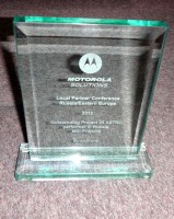 Motorola's award for outstanding APCO 25 projects in the interests of the  Russian Ministry of Internal Affairs